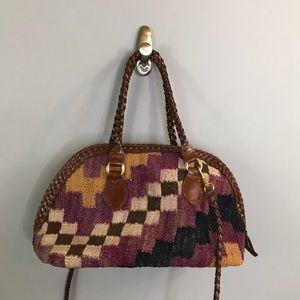 ⭐️NEW ARRIVAL Vintage Kilim Cross Body Bag Leather
